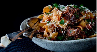 Beef cheek and mushroom Ragù (with pappardelle)