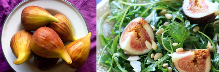 Fresh Fig, Pancetta and Baby Rocket Salad with Goat Cheese