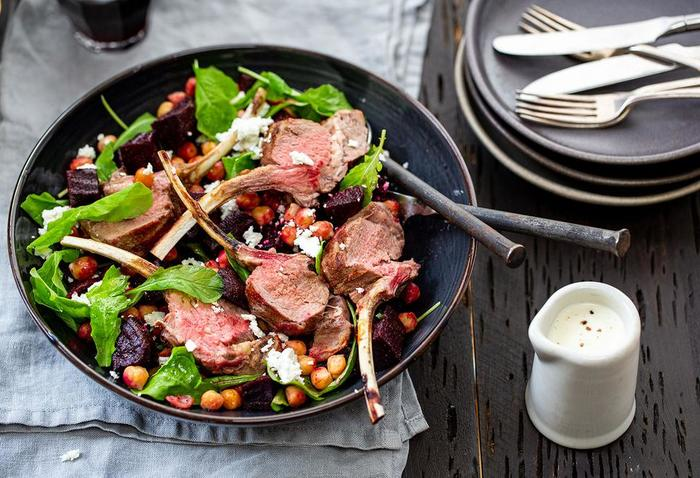 Warm Lamb, Beetroot and Chickpea Salad