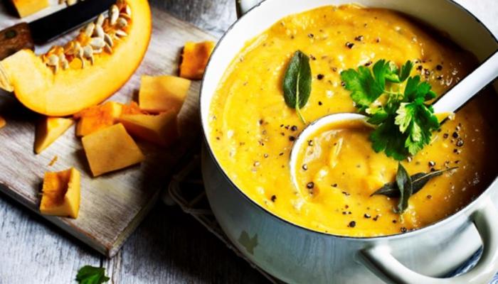Autumnal Potato and Pumpkin Soup