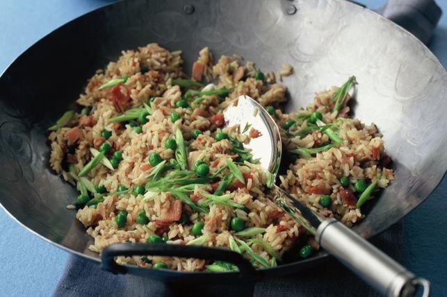 Simple stir fried tuna with rice