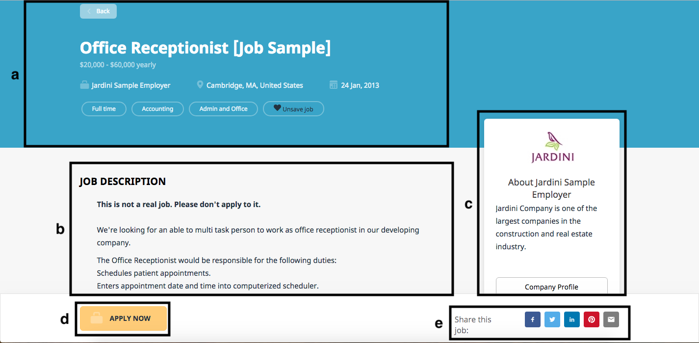 how-to diagram of the view job page